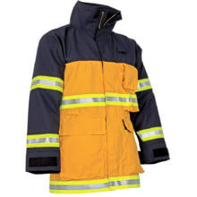 CrewBoss™ Fire Rescue Coat (Nomex) Blue / (Nomex) Yellow