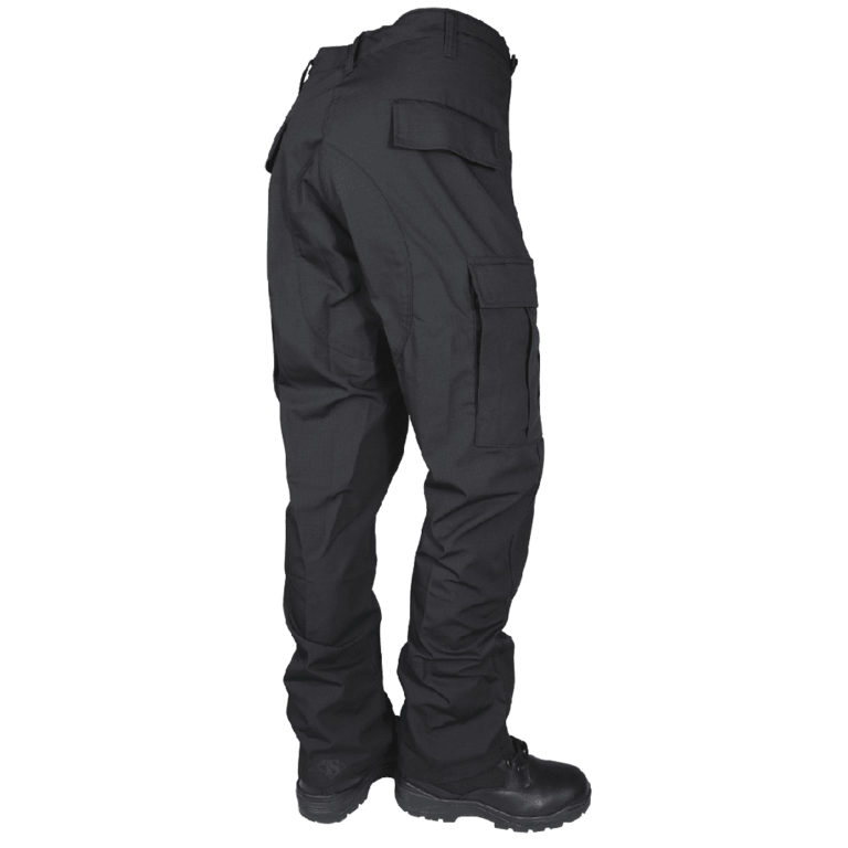 TruSpec Classi BDU Cotton Poly Rip Stop Black back