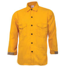 CrewBoss™ Traditional Brush Shirt 5.8 oz. Tecasafe Plus - Yellow